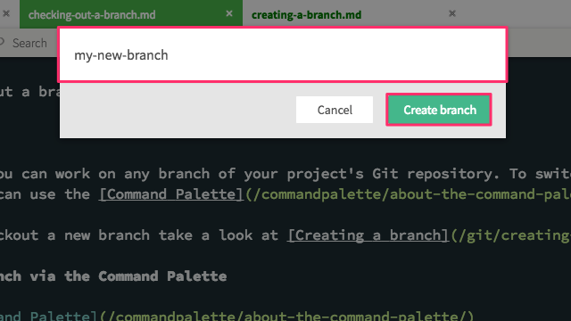 Git branch list