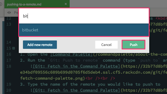 Git: Pull from remote prompt